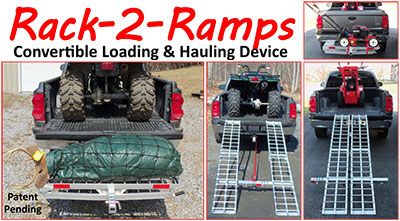 Rack-2-Ramps Covertible Loading and Hauling Device