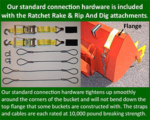 Connection Hardware included with all rakes and shovels