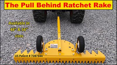 The Pull Behind Ratchet Rake